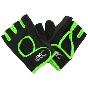 ซื้อ/ขาย ถุงมือปั่นจักรยาน Spandex GL-001 สีดำเขียว