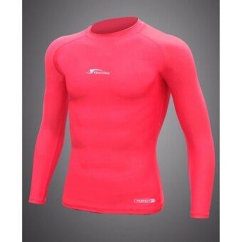 ซื้อ/ขาย Spandex S001 เสื้อรัดกล้ามเนื้อแขนยาว สีแดง M
