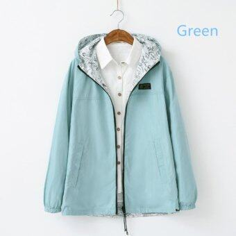 Spring Autumn New Sweet Female Hooded Loose Coat (Green) - intl