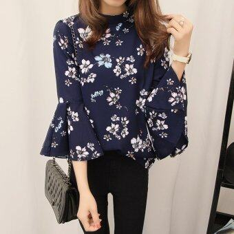 Harga Spring New Style Woman Floral Blouse - intl