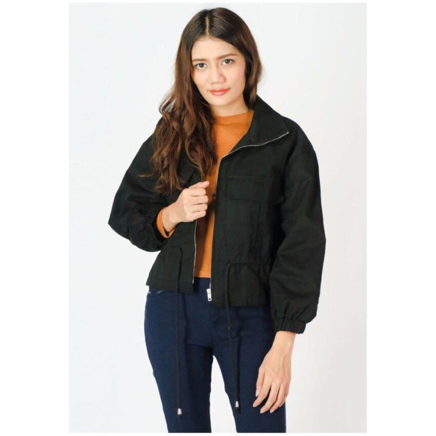 Squareladies เสื้อแจ็คเก็ต No.505 (สีดำ)