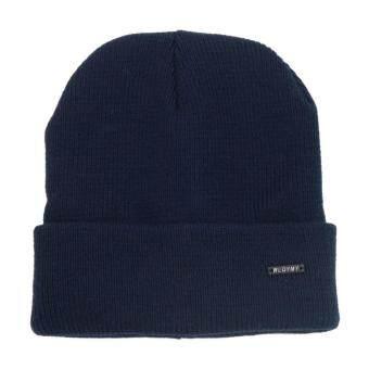 Squareladies หมวกไหมพรมแบบบุขนวูล No.H802 (กรมท่า)(Int: One size)