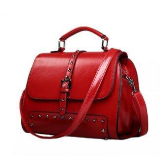 กระเป๋าถือสะพายข้างหนัง รุ่น 210 (สีแดง)