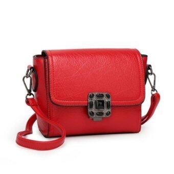 โปรโมชั่นพิเศษ กระเป๋าสะพายข้างหนัง รุ่น st906 (สีแดง)