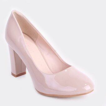 Stitch Essential Block Heels (Nude)