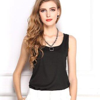 Harga Summer ladies coat chiffon shirt with sleeveless chiffon vest -intl