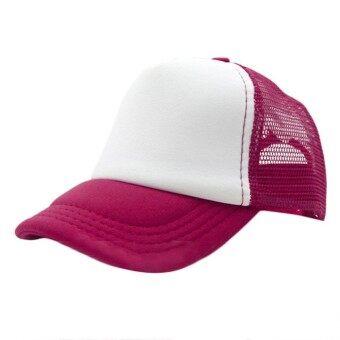 Summer Plain Trucker Mesh Hat Snapback Blank Baseball Cap Adjustable Size - intl