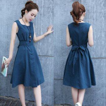 Summer women sleeveless casual mini dress - intl