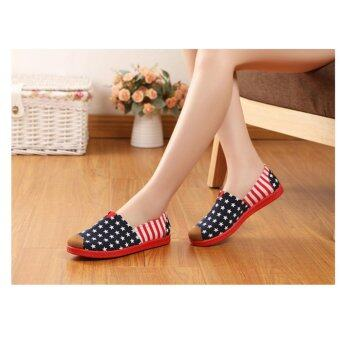 SUN Casual Flat Shoes Slip-ons รองเท้าผู้หญิง รองเท้าแฟชั่น รุ่น H-01