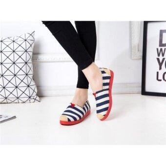 SUN Casual Flat Shoes Slip-ons รองเท้าผู้หญิง รองเท้าแฟชั่น รุ่นH-16 - 4