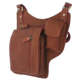 รีวิว กระเป๋าสะพายข้างหนังแท้ สำหรับเก็บปืนพกสั้น เหมาะสำหรับผู้ชาย กระเป๋าสะพายเฉียง หนังแท้ ซองปืน Sun Lifestyle รุ่น SL277-2 (สีน้ำตาล)