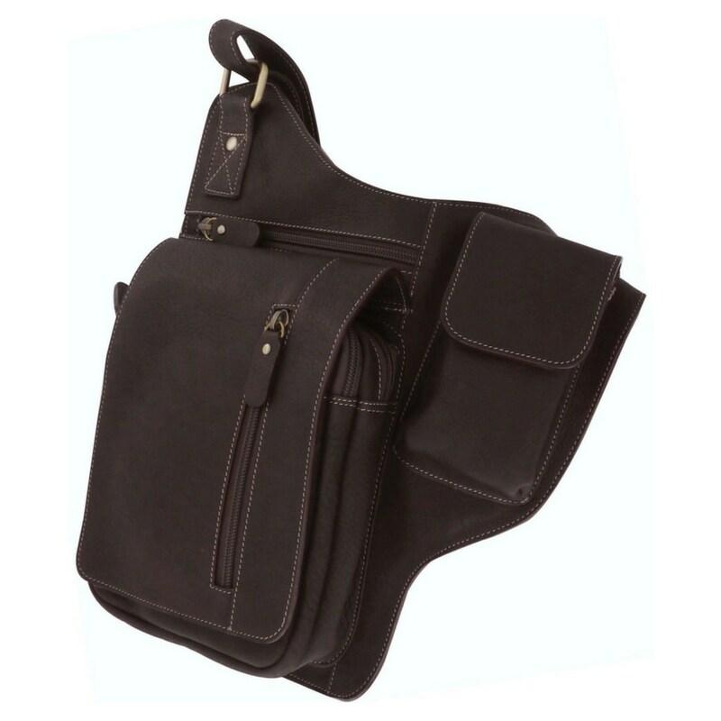 กระเป๋าสะพายข้างหนังแท้ สำหรับเก็บปืนพกสั้น เหมาะสำหรับผู้ชาย กระเป๋าสะพายเฉียง หนังแท้ ซองปืน  Sun Lifestyle รุ่น SL277-2 (สีน้ำตาล)