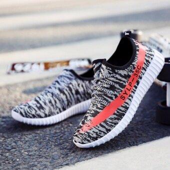 SUN New Fshion รองเท้าผ้าใบ รองเท้าผ้าใบผู้ชาย รองเท้าแฟชั่น L-1 (Grey)