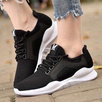 Sun Women Sport Casual Sneaker รองเท้าผ้าใบ รองเท้าผ้าใบผู้ชาย รองเท้าแฟชั่น No.1901(Black)