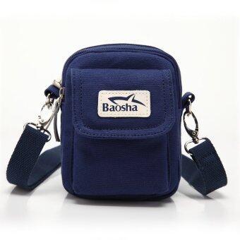 เปรียบเทียบราคา กระเป๋าสะพาย กระเป๋าใส่มือถือ กระเป๋าคาดเอว รุ่นBS8008 - สีน้ำเงิน