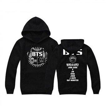 Sunny's Shop--BTS(Bangtan Boys) Hoody Cardigans Sweaters Hoodies Pullover (Black) - intl