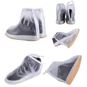 Sunshop Durable Waterproof Overshoes Shoes Cover Slip-resistant Rain Snow Boots Protector (White) - intl