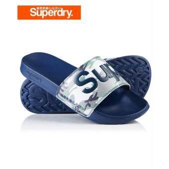 Superdry Pool Sliders MF3004SOF1 (Dark Navy/Ice Camo)