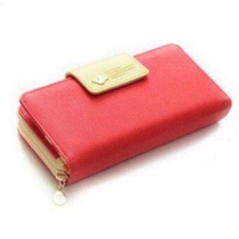 TB มาใหม่กระเป๋าสตางค์แบรนด์คุณภาพสูงกระเป๋าสตรีผู้หญิง(RED)