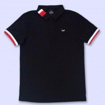 เสื้อโปโล สีดำบาร์ Temmakoji