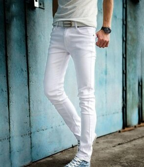the new metrosexual white jeans slim pencil pants feet intl 1499731342 31129123 b30d75e3cb6a6ff371a3c50b2aea6f85 product ขายสินค้าดี The new Metrosexual white jeans slim pencil pants feet.