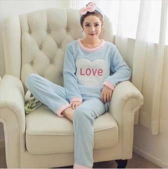 Thick warm coral velvet suit Home Furnishing Cute Bunny - intl