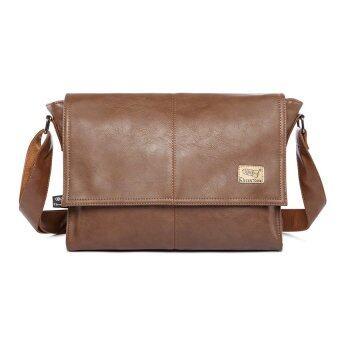 กระเป๋าสะพายชายใส่เอกสาร (สีน้ำตาลอ่อน)