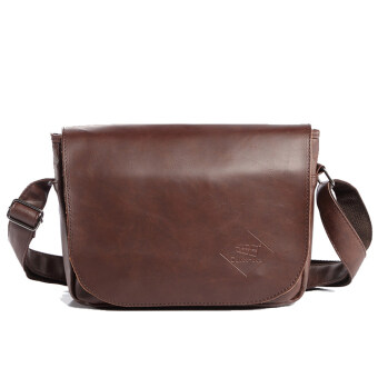 เสนอราคา Otzi กระเป๋าสะพายไหล่ สะพายข้าง หนัง(PU) สไตส์คลาสสิกวินเทจ สีน้ำตาล