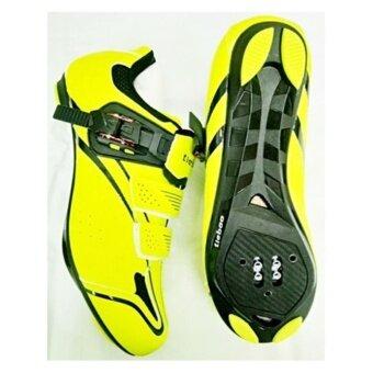 ซื้อ/ขาย TieBao รองเท้าปั่นจักรยานเสือหมอบ/เสือภูเขา รุ่น TB36-B1413 สีเหลือง เบอร์ 40,41,42,43,44,45