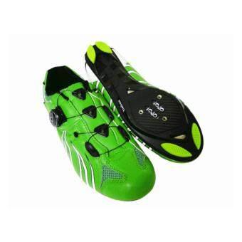 TieBao รองเท้าปั่นจักรยานเสือหมอบ/เสือภูเขา รุ่นTB36-B955 สีเขียวเข้ม#3738