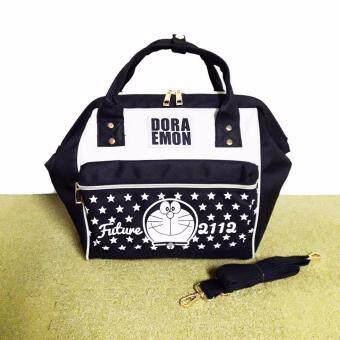 TK DORAEMON handbags กระเป๋าโดเรมอน กระเป๋าสะพายข้างโดเรมอน สีดำ-ขาว สินค้าโดเรมอนของแท้