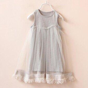 Toddler Kids Baby Girls Princess Party Clothes Tassels SleevelessTutu Dresses - intl