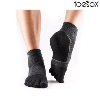 2561 Toesox Mediumweight Ultrasport Ankle Color Black ถุงเท้าออกกำลังกายสีดำ