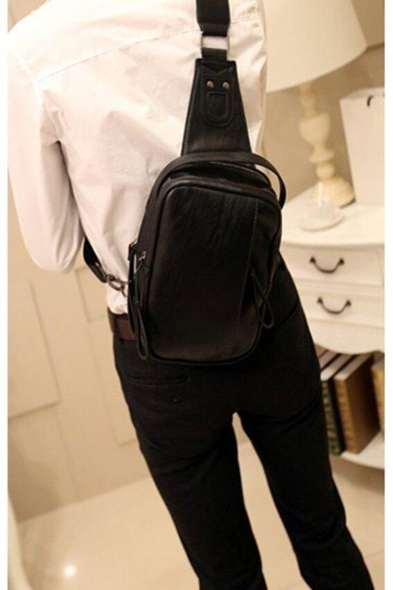 ขาย Tokyo Boy กระเป๋าสะพายไหล่ / คาดอก ผู้ชาย ผ้าcanvas รุ่น NE519 (สีดำ)