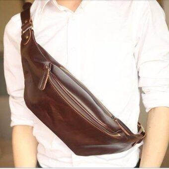 Tokyo Boy กระเป๋าสะพายไหล่ คาดอก คาดเอว หนัง PU รุ่น NE76 - สีกาแฟ