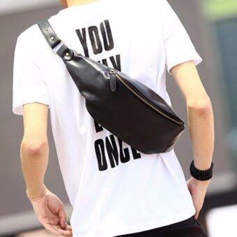 เปรียบเทียบราคา Tokyo Boy กระเป๋าสะพายไหล่ คาดอก คาดเอว หนัง PU รุ่น NE81 - BLACK