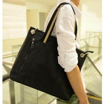 รีวิวพันทิป Tokyo Boy กระเป๋าสะพายไหล่ ผู้ชาย หรือถือ หนัง PU รุ่น NE95 (สีดำ)