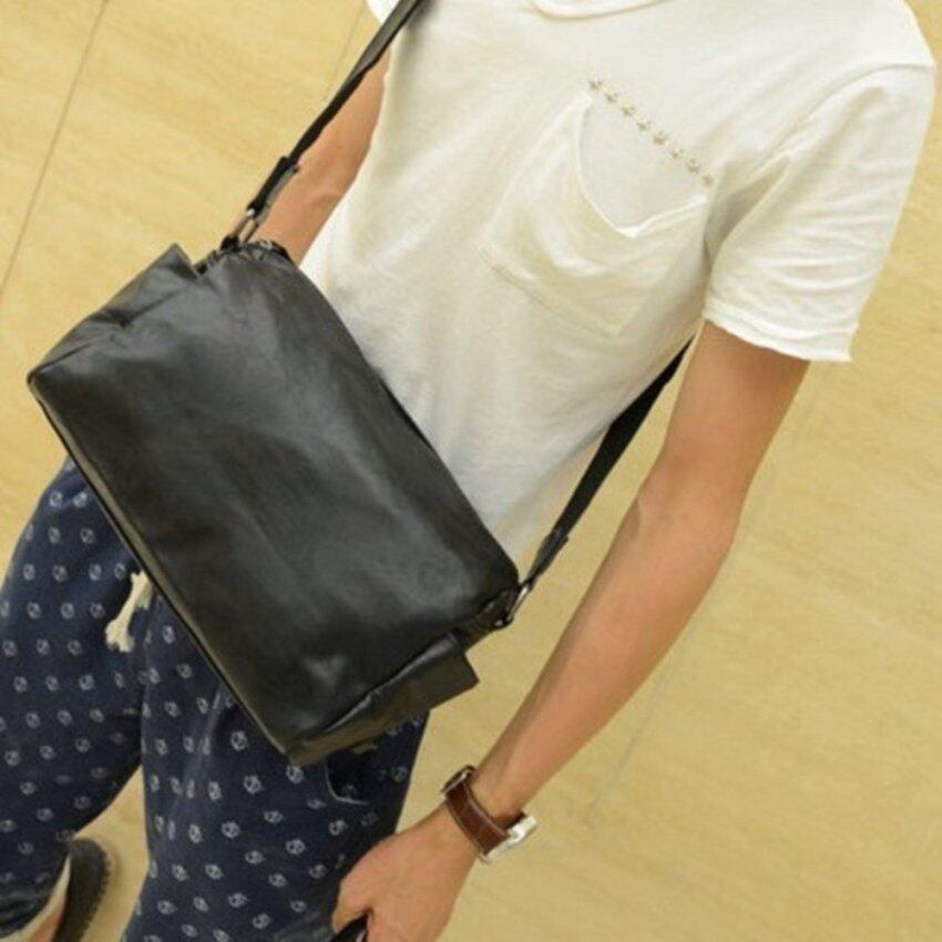 Tokyoboy กระเป๋าสะพายไหล่ หนังPU เนื้อนิ่ม รุ่น NE46 - สีดำ
