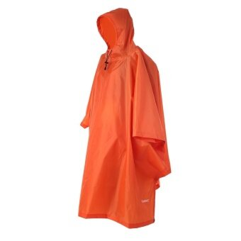 TOMSHOO Multifunctional Lightweight Raincoat with Hood HikingCycling Rain Cover Poncho Rain Coat Outdoor Camping Tent Mat - intl