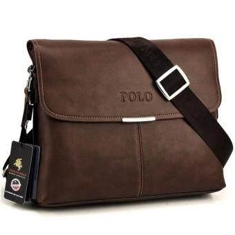 Top Class กระเป๋าสะพาย กระเป๋าผู้ชาย POLO VIDENG (สีกาแฟ)