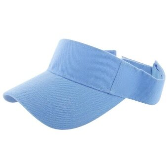 Toprank New Unisex Cotton Visor Cap Sun Hat Adjustable Velcro Closure Fishing Outdoor Sports Hat ( Blue ) - intl