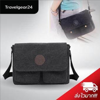 กระเป๋าสะพายข้าง กระเป๋าสะพายไหล่ Shoulder Bag CrossBody Bag - Black/สีดำ