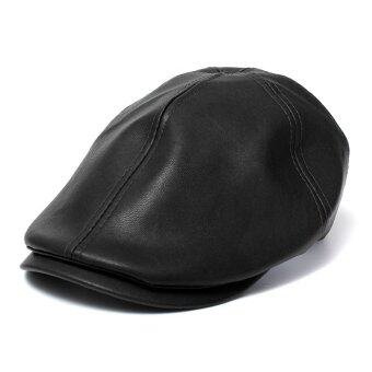 Unisex Leather lvy Caps Bonnet Newsboy Beret Cabbie Gatsby Flat Golf Hats