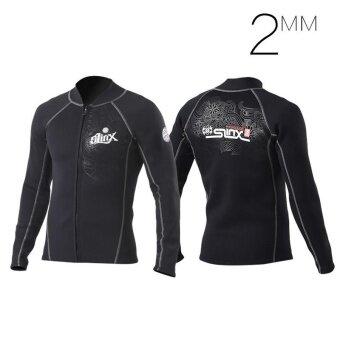 Unisex Men Women Sport ระดับมืออาชีพฤดูหนาวว่ายน้ำ Thicken 2 มิลลิเมตร Neoprene กำมะหยี่ครีมกันแดด Wetsuit 7091