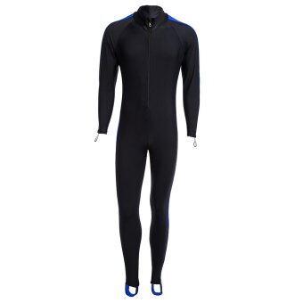 Unisex Watersport Sunscreen Keep Warm Jumpsuit Diving Suit Wetsuit (Blue) - intl