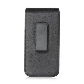 Universal Belt Clip Leather Case Mobile Phone Waist Bag Pouch Cover (Black) - intl - 2