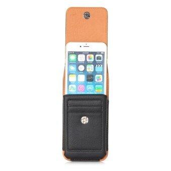 Universal Belt Clip Leather Case Mobile Phone Waist Bag Pouch Cover (Black) - intl - 4