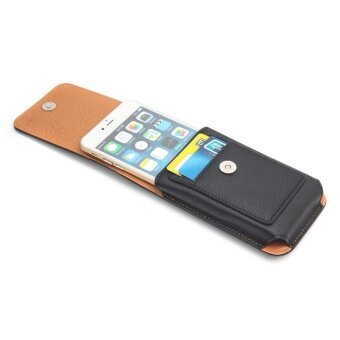 Universal Belt Clip Leather Case Mobile Phone Waist Bag Pouch Cover (Black) - intl - 3