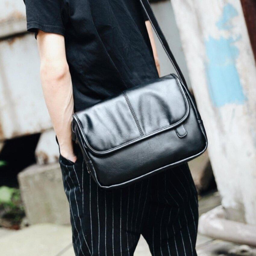 ขาย UPPER  กระเป๋ากระเป๋าสะพายข้าผู้ชาย ไสตล์เรียบๆ  รุ่น NE526 - สีดำ