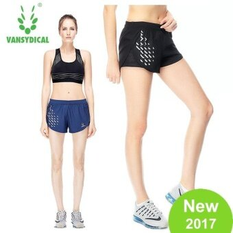 Harga VANSYDICAL Women Fashion Sport Shorts Quickly Dry BreathableRunning Fitness Printed Short pants - intl